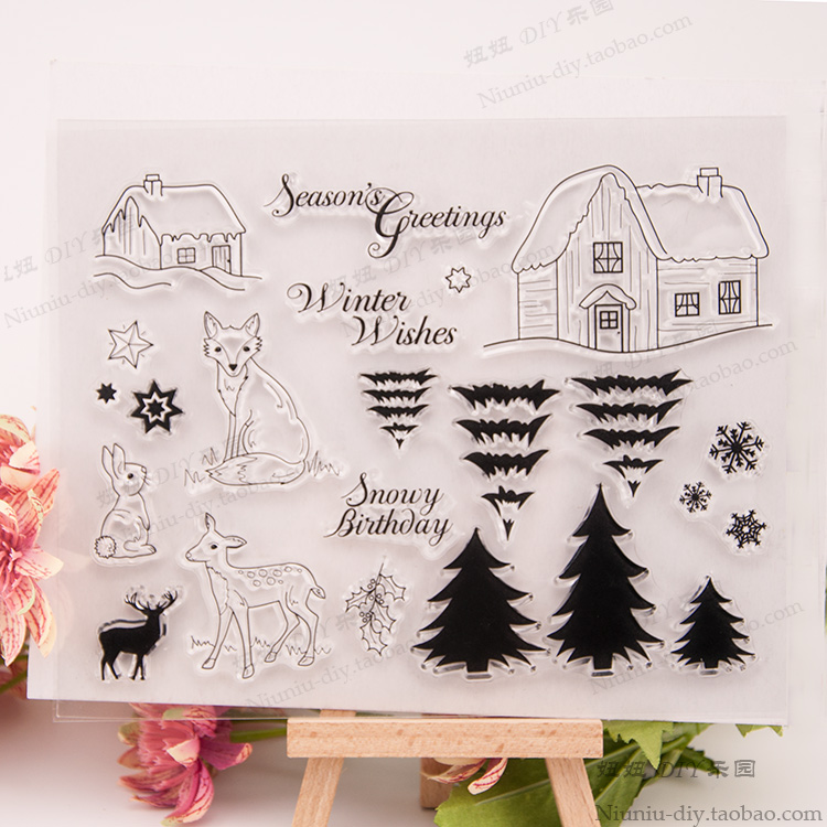 scrapbook DIY winter wish 14CM*18CM ACRYLIC VINTAGE clear STAMPS FOR PHOTO carimbos stempel SCRAPBOOKING stamp free shipping scrapbooking stamp diy size 14cm 18cm acrylic vintage for photo scrapbooking stamp clear stamps for scrapbooking clear stamps 04