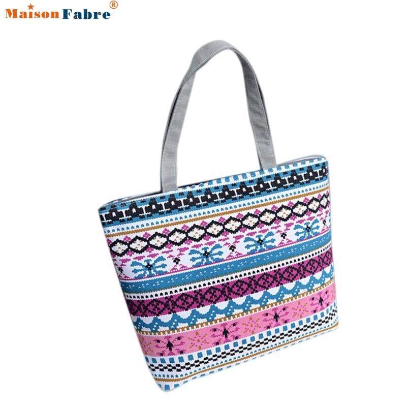 Fashion Women Girls Printing Canvas Shopping Handbag Shoulder Tote Shopper Bag Comfystyle san-13pin