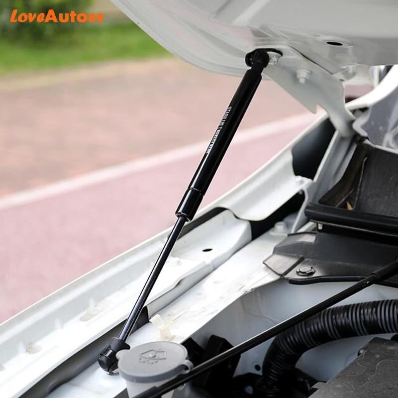 Otomobiller ve Motosikletler'ten İç Profiller'de Araba Stil 2 PCS Hilux Revo 2016 2017 2018 2019 Için Ön Kaput Motor Kapağı Hidrolik Çubuk Dikme Bahar Şok bar