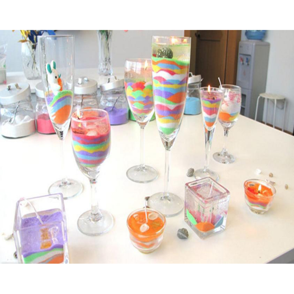 200g Jelly Wax Candles Handmade DIY Material Transparent Gel Candle Birthday Party Wedding Votive Holiday Candle Making Supplies glass bottle