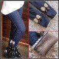 2016 осенние и зимние теплые брюки плюс бархат утолщение леггинсы узкие брюки для девочек полная длина карандаш брюки эластичный пояс