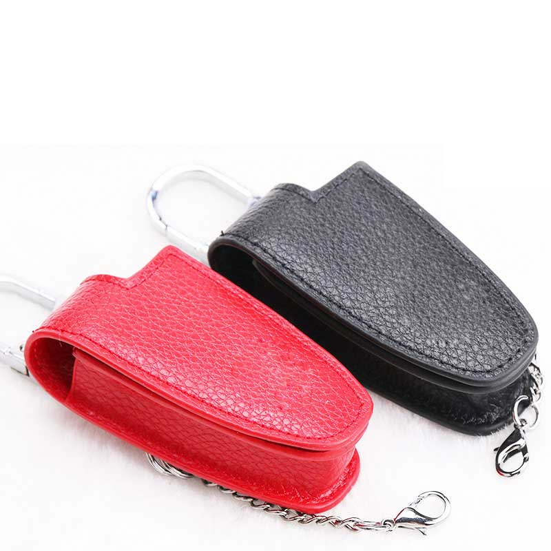 Icecare Leather Key Cover Case Shell For Mercedes Benz W124 W204 W211 CLK C180 E200 AMG C E S Class Keyrings Holders Car Styling