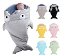 Newborn Sleeping Bag Swaddle Baby Blanket Wrap Cute Baby Stroller Sleep Bag Shark Style Winter Free Shipping