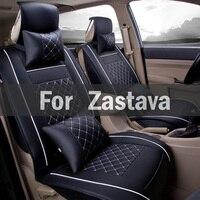 Black Yellow White Gray Beige Car Seat Cover Pu Universal Fit Seat Protector Black/Gray For Zastava 10 Florida Skala Yugo