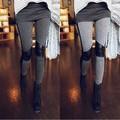 2014 Mulheres Quentes Costura Stretchy Faux Perneiras De Couro Calças Calças de Couro de Venda Quente leggings 31