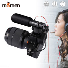 MAMEN MIC-07 Super 3.5mm Microphone VLOG Photography Interview Digital HD Video Recording Microphone for Smartphone and Camera(China)