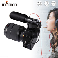 MAMEN MIC 07 Super 3.5mm Microphone VLOG Photography Interview Digital HD Video Recording Microphone for Smartphone and Camera
