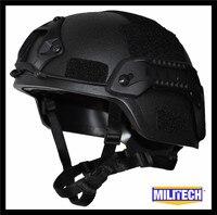 MILITECH Black BK MITCH NIJ Level IIIA 3A Tactical Twaron Bulletproof Helmet ACH ARC OCC Dial Liner Aramid Ballistic Helmet SEAL