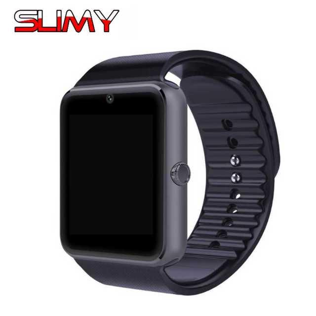 Слизняк GT08 A1 Смарт часы для Apple Watch Для мужчин Для женщин Android наручные Умная Электроника SmartWatch С Камера sim-карта TF