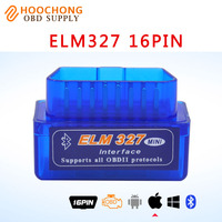 New Mini ELM327 Bluetooth 4 0 Works ON Android PC IOS BT Adapter V2 1 OBD2