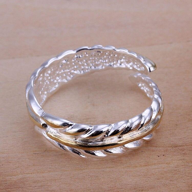 Jewelry Rings Wholesale Silver 925 Bijoux Stylish Leave Peace Women ...