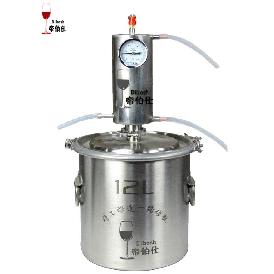 12L самогон Алкоголь дистиллятор комплект водки машина самогон завод с дистилляции измерения алкоголя метр Homebrew