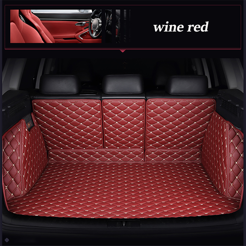 Leather car trunk mat for Hyundai Tucson 2014 2006 waterproof boot carpets cargo liner for Tucson