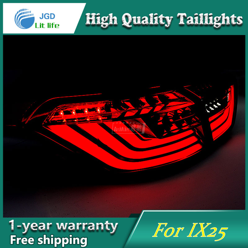 Car Styling Case for Hyundai ix25 Hyundai Creta Taillights Tail lights LED Tail Lamp Rear Lamp DRL+Turn Signal+Brake+Reverse car styling tail lights for hyundai santa fe 2007 2013 taillights led tail lamp rear trunk lamp cover drl signal brake reverse