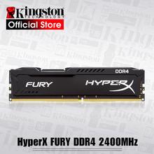 Kingston HyperX FURY 4GB 8GB 16GB DDR4 2400MHz PC pamięci Ram DIMM 288-pin pulpit Ram wewnętrzna pamięć Ram do gry komputerowe Ram tanie tanio Nowy Pojedyncze NON-ECC 1 2 V 288pin 2400 mhz HX424C15FB 8 Dożywotnia Gwarancja Stock