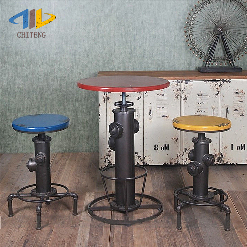 Chi Teng LOFT Industrial Wind Iron Bar Stool Retro Bar Tables And Chairs  Can Rotate And Lift Bar Stool. In Bar Chairs From Furniture On  Aliexpress.com ...