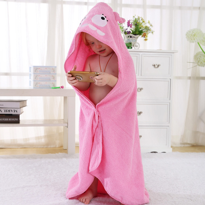 Baby Cloak Cloak Pure Cotton Towel Material Baby Bath Towel Baby Spring Xia Xinkuan Children Bathrobe Animal Cartoon