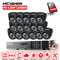 HCVAHDN CCTV Home System 16CH 5MP NVR 4.0MP AHD CCTV Surveillance Security Camera System 16 Cameras security camera indoor set