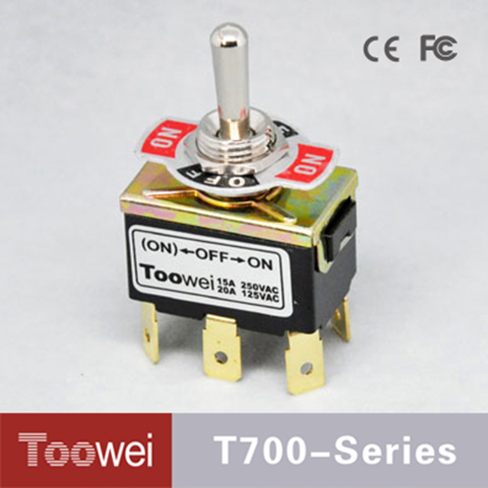 Low Price toowei 6P ON-OFF-(ON) one side momentary toggle