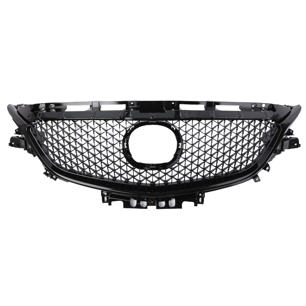 For Mazda 6 Atenza 2017 2018 Front Bumper Grill Upper Grille Black Auto Car Parts Accessories