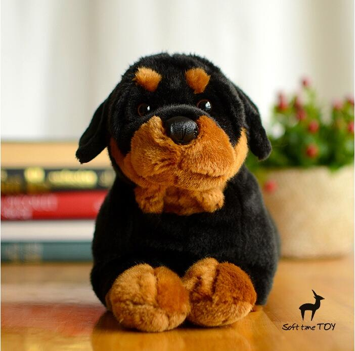 Stuffed Big Toy Animal Simulation Rottweiler Doll Plush Dogs - პლუშები სათამაშოები - ფოტო 2
