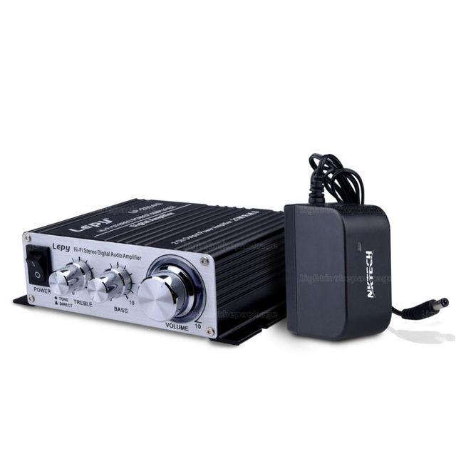 Lepy LP-2024S 2CH Potência De Saída 25 W RMS Amplificador Hi-Fi Estéreo Digital Com LP-2024A NKTECH 3A Fonte De Alimentação Preto + atualização