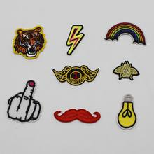 New Beauty Delicate Embroidery Patches Iron On Sticker Sewing On Accessories DIY Cloth And Bags Rainbow Original Design Motif(China)
