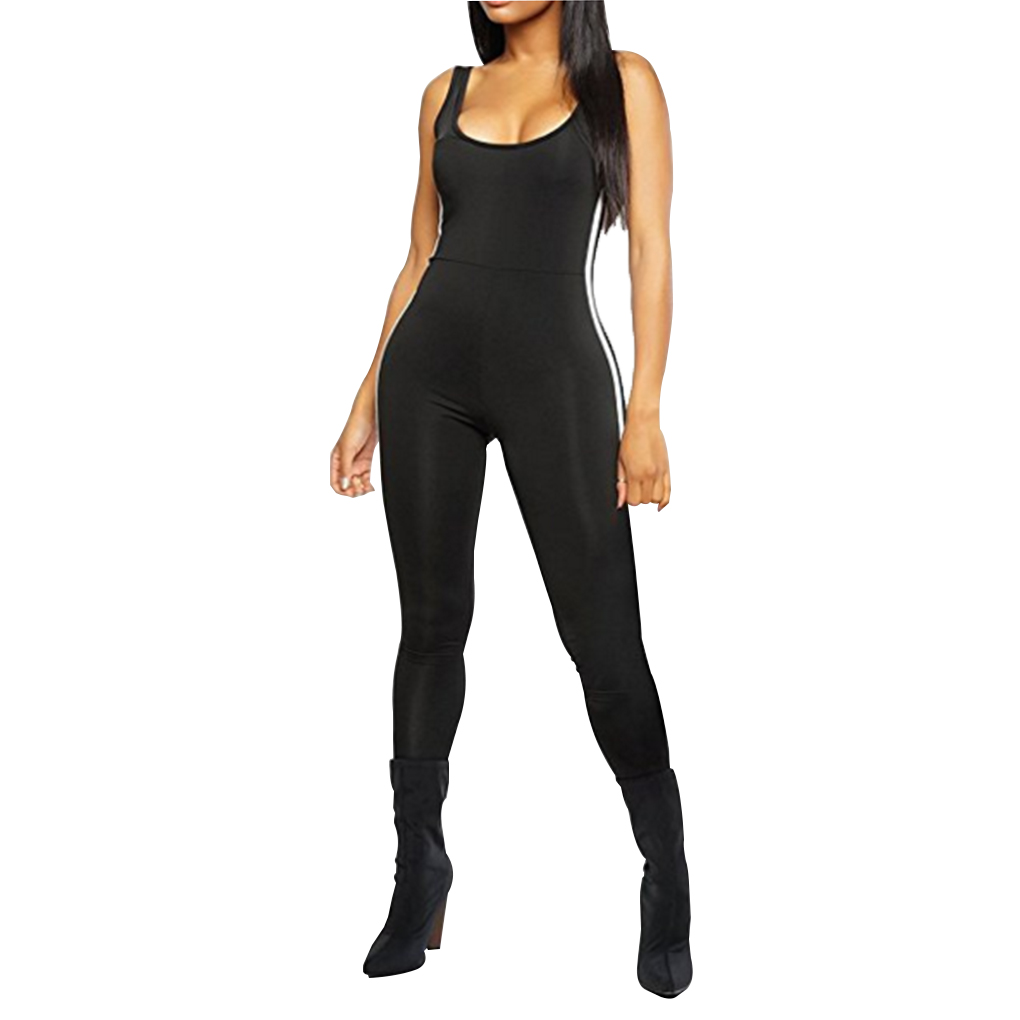 e9a0bee25 Women Bodycon Pure Color Jumpsuit Leotard Cut Out Hole Legging Rompers Sexy  Tights Outfit