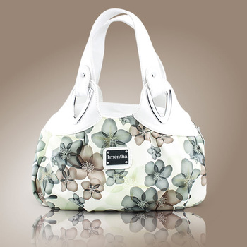 ladies hand bag white Floral women Top-Handle Bags female tote bags for women purses and handbags Hobos women leather handbags D