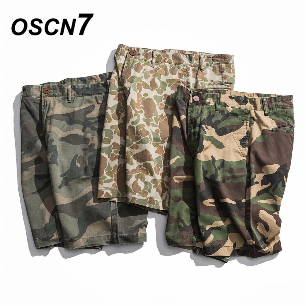 OSCN7 Streetwear Military Camouflage Camo Cargo Side Pocket   Shorts   Men 2019 Summer Fashion Bermuda   Short   Pants Men H-9003