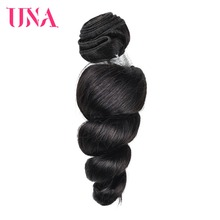 UNA Brazilian Loose Wave Bundles 100% Human Hair 1 PC 16-26inches Non Remy Weave Extension Can Buy 3 Or 4