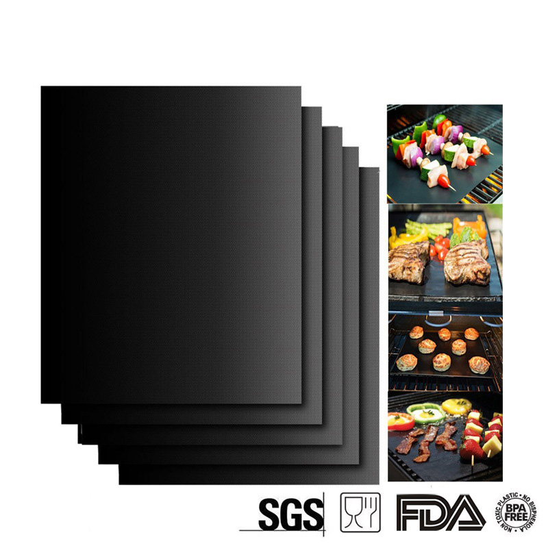 Hot Selling 0.2mm Super Thick Barbecue Grill Mat Non-stick Reusable BBQ Grill Mats Sheet Grill Foil BBQ Accessories ...