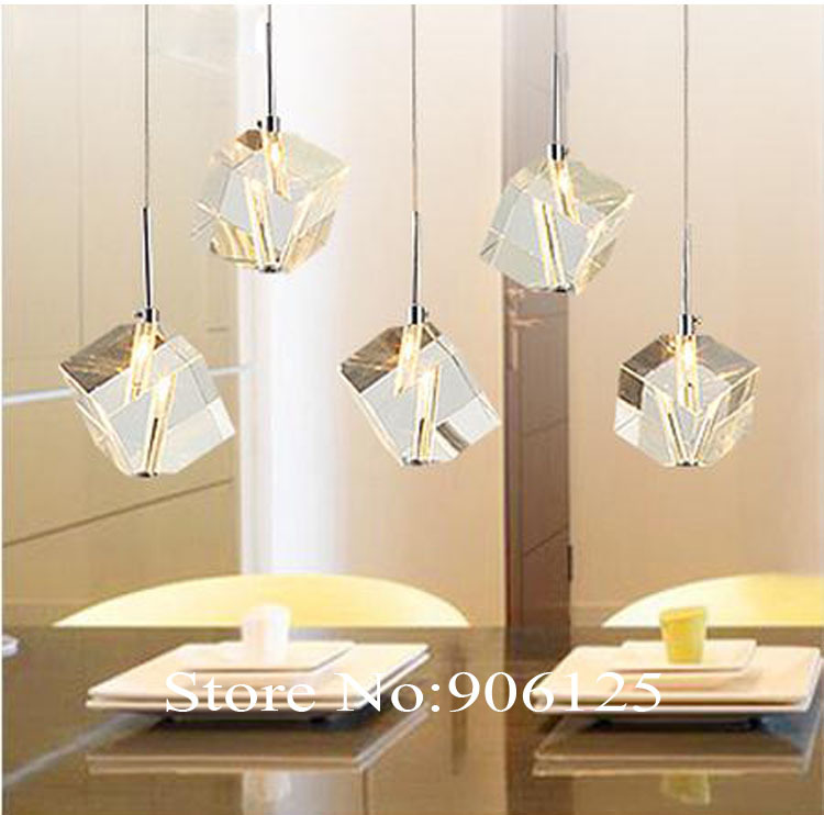 Modern Crystal Pendant Light Cubic Crystal Pendant Light Lighting Lamp Used in Bar Restaurant Guaranteed 100%+Free shipping!