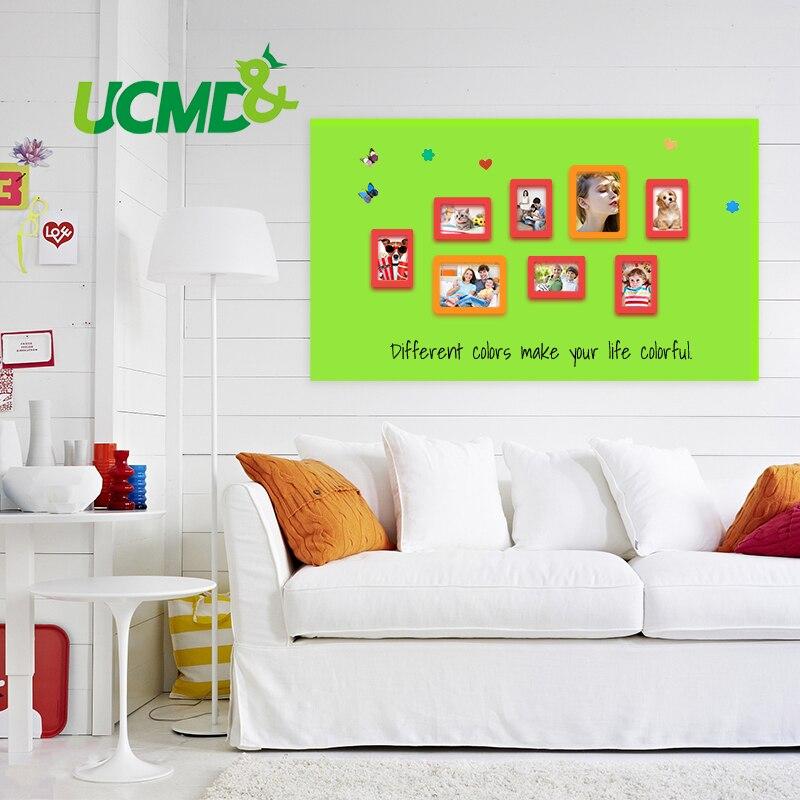 Nouveau tableau blanc ferreux créatif bricolage tableau vert panneau Message autocollant mural étanche 150 cm x 100 cm x 0.6mm