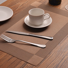 PVC dining table mat disc pads bowl pad coasters waterproof table cloth pad slip-resistant pad