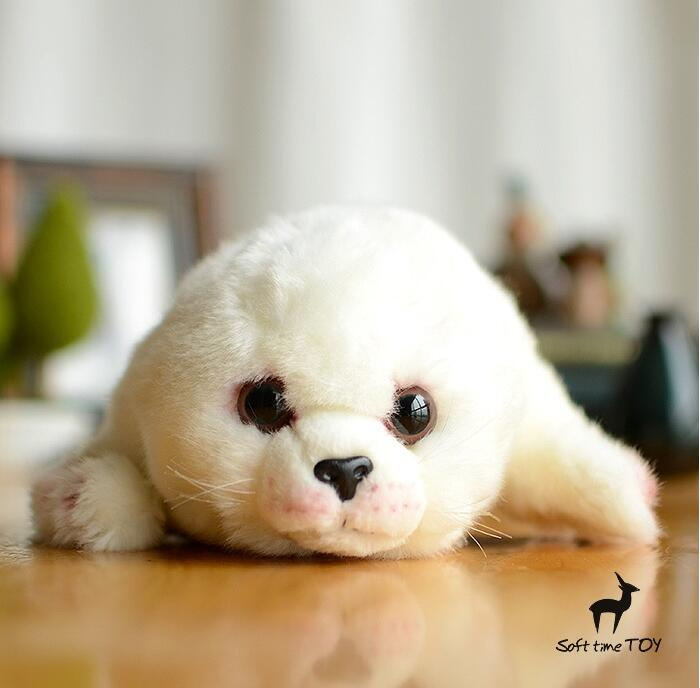 Kids Toys Plush  Stuffed Animal  White Seal Pups Baby Toy  Doll Super Cute