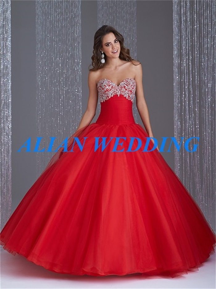 Popular Red Gown Sweet 16 Dresses-Buy Cheap Red Gown Sweet 16 ...