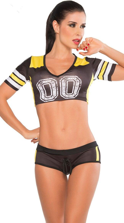 aliexpress com buy sexy halloween football costume new two piece girls cheerleader halloween costume - Girls Football Halloween Costume