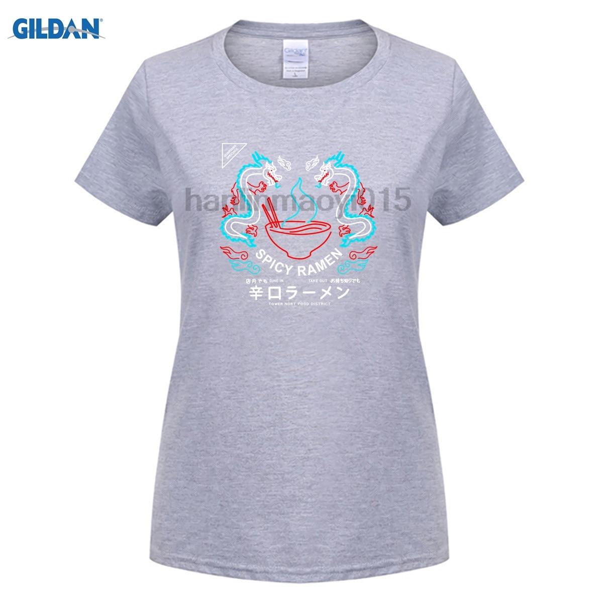 GILDAN 100% Cotton O-neck printed T-shirt Spicy Ramen T-Shirt for women