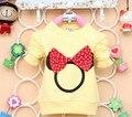 2014 новинка осенью ребенок тройники хлопка с микки печать ребенок вершины девушки футболка одежда A161