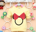 2014 New Fashion Autumn  Baby Tees Cotton with Mickey Print  Baby Tops girls T-shirt  Clothes  A161