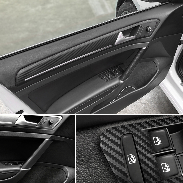 30x127cm 3D Carbon Fiber Vinyl Film Car Stickers Waterproof Car Styling Wrap Auto Vehicle Detailing Car accessories Motorcycle 1