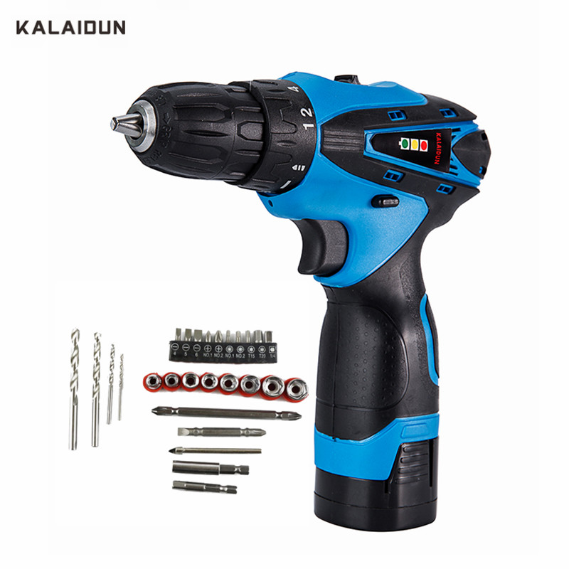 KALAIDUN Electric Drill 16.8V Power Tools Screwdriver Lithium Battery Cordless Drill Mini Drill With Accessories 27pcs Bit kalaidun 12v dc electric drill power tools electric screwdriver lithium battery cordless drill mini drill