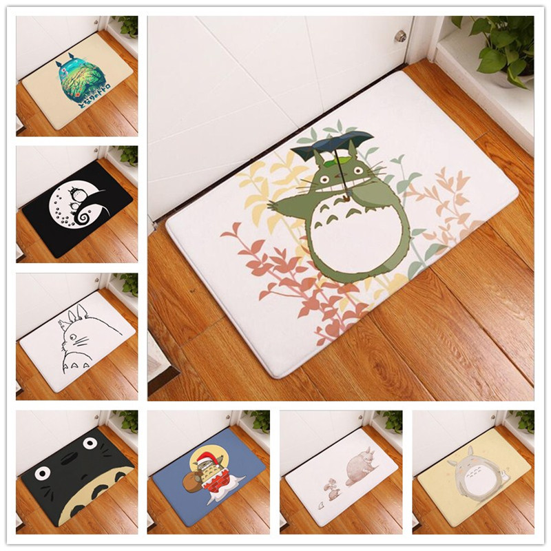 My Neighbor Totoro Anti-Slip Floor Pad Hallway Balcony Decor Mat Cartoon Carpets For Living Room Bath And Toilet 40*60cm Doormat