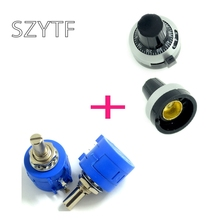 3590s-2-202 precision multi- turn potentiometer 2K + knob scale knob with locking