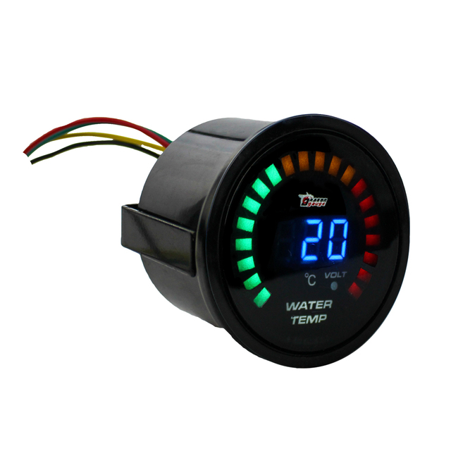 Original Logo 52mm 2 Inch LCD Digital Water Temp Gauge With Sensor water Temperature gauge car meter  auto gauge  YC100095