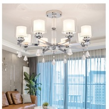 hot deal buy modern chandelier chrome metal led chandeliers lighting crystal living room led pendant chandeliers lights bedroom lights