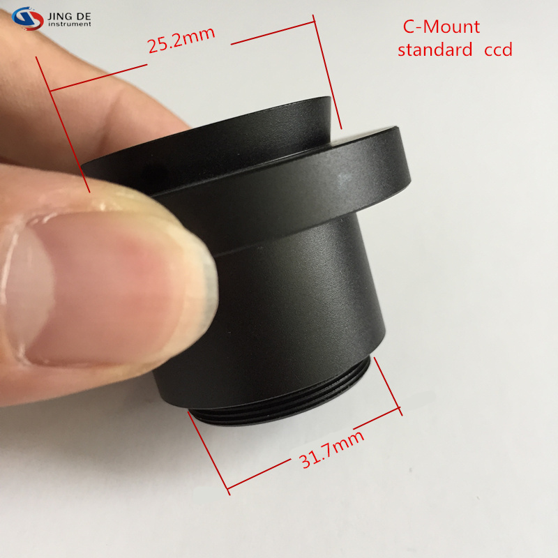 1X interface for connecting the microscope CCD microscope camera 23.2mm adapter 32mm tapered connection Standard C-Mount цена