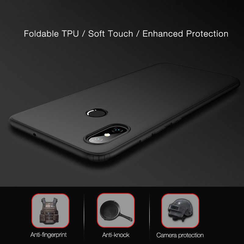 Matte TPU Cover Case For Xiaomi Mi 8 Lite SE 5x A1 6X A2 Lite Max 3 Airbag Cases Redmi Note 5 Case 6 Pro 6A S2 4X 4 4A 5A 5 Plus