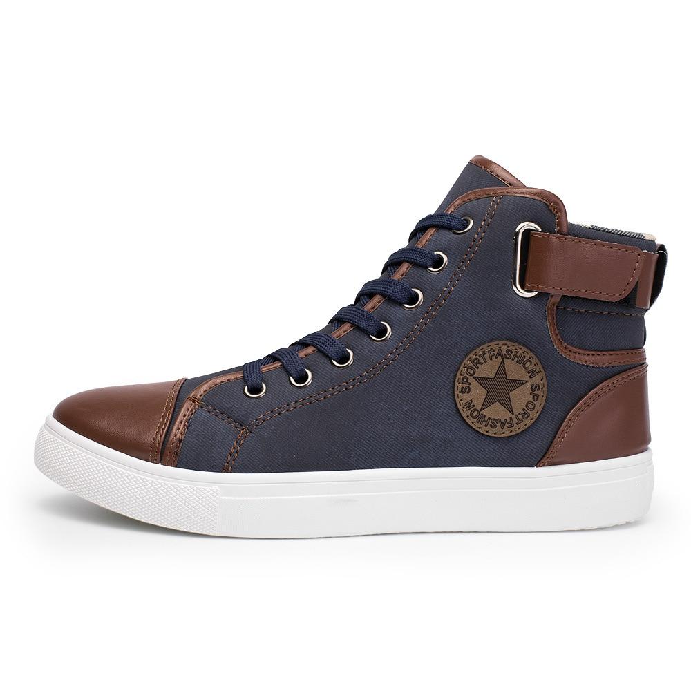 Új férfi alkalmi cipő tavaszi és őszi bőr férfi bokalátét - Férfi cipők